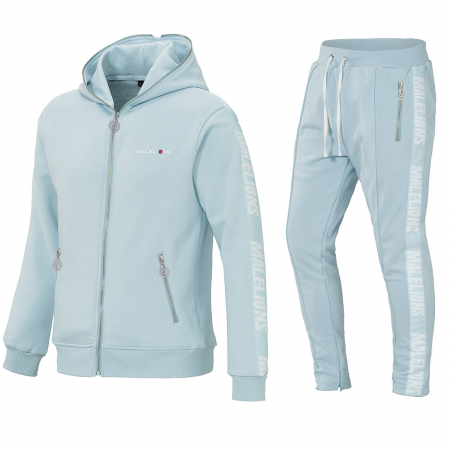 Malelions Tracksuit Light Blue