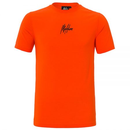 Malelions T-Shirt 3D Orange/Black