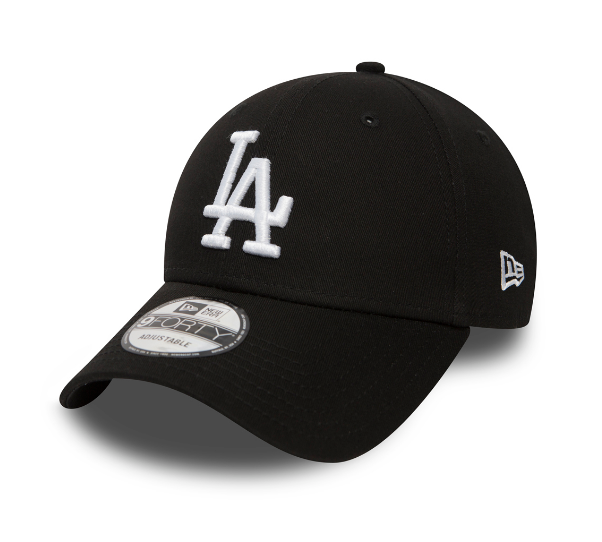 New Era LA Dodgers Essential 9Fourty white on Black