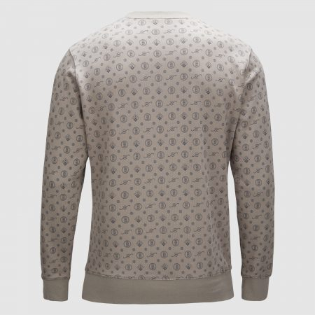Banlieue All Over Pattern Sweater Grey 1