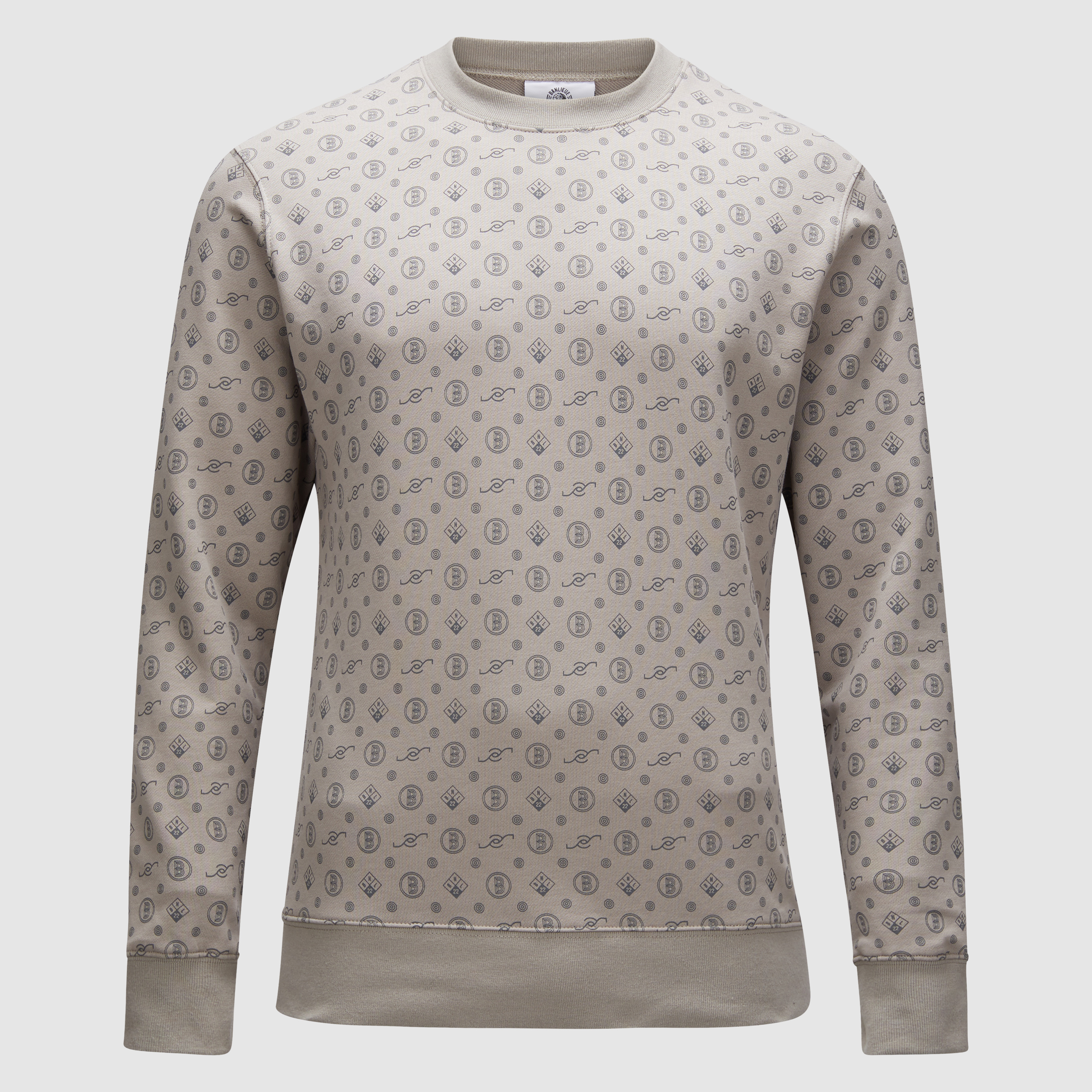 Banlieue All Over Pattern Sweater Grey