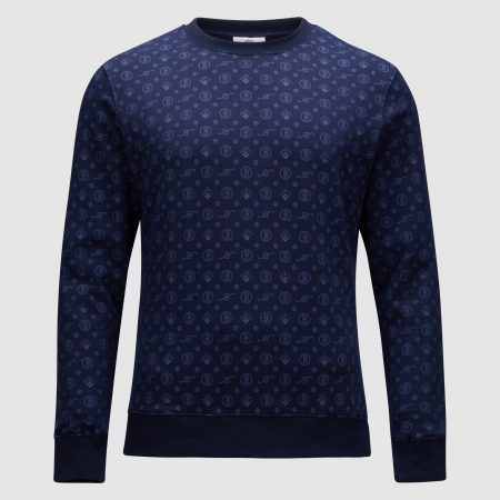 Banlieue All Over Pattern Sweater Navy