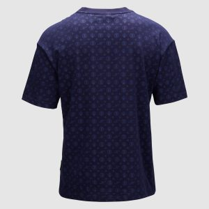 Banlieue All Over Pattern T-shirt Navy