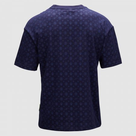 Banlieue All Over Pattern T-shirt Navy 1