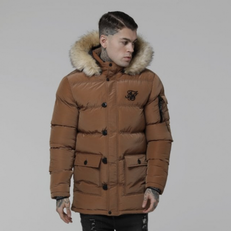 SikSilk Shiny Puff Parka RustSikSilk Shiny Puff Parka Rust