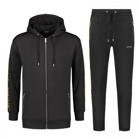 Quotrell Admiral Tracksuit Black/Yellow Senior