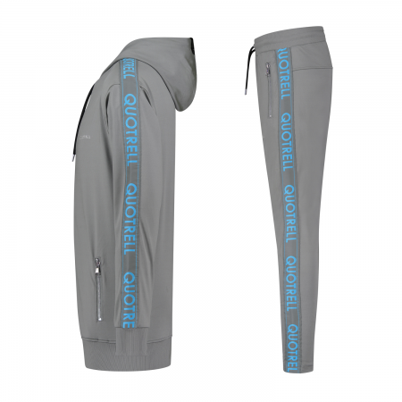 Quotrell Admiral Tracksuit Grey/Blue Senior