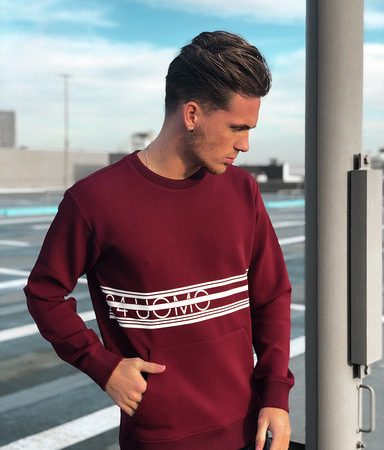 24 Uomo Sweater Band Burgundy Senior