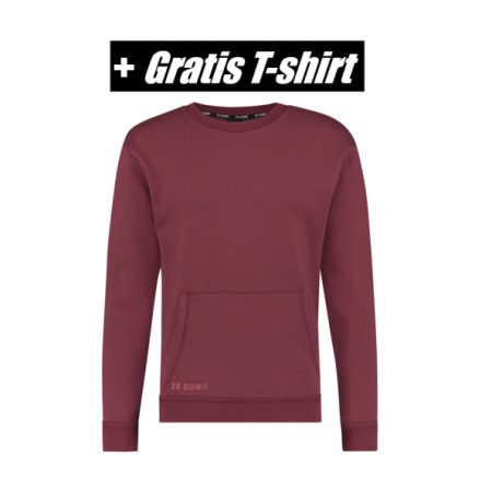 24 Uomo Sweater Burgundy Senior
