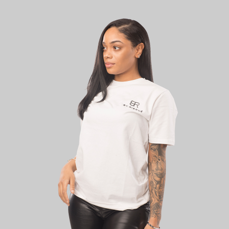 By Risque White BR T-shirt Senior