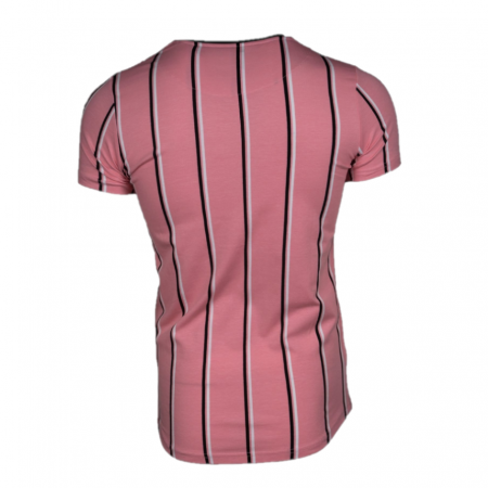 AB Lifestyle London Stripe T-shirt Roze