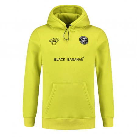 Black Bananas F.C Basic Hoodie Neon Yellow