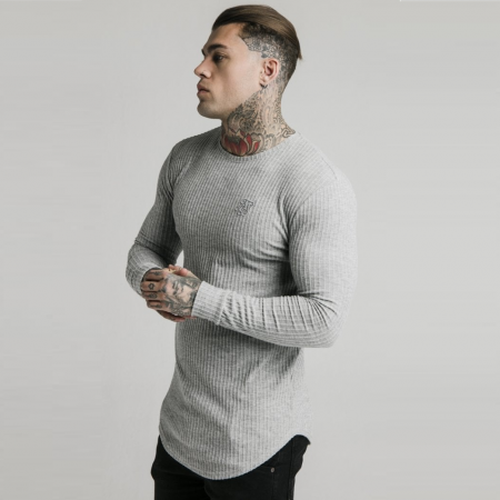 SikSilk Brushed Rib Knit Gym Tee