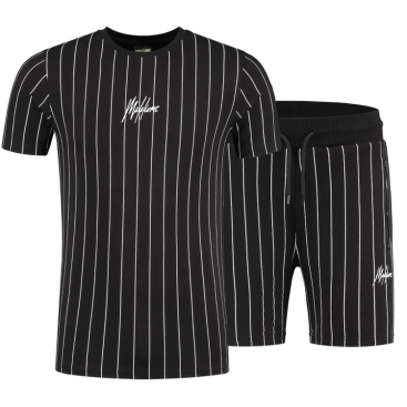 Malelions Sport Twinset Stripes Black/Black