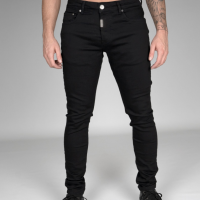 AB Lifestyle Black Nylon Pocket Jeans