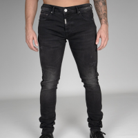 AB Lifestyle Stretch Jeans Taped Zwart