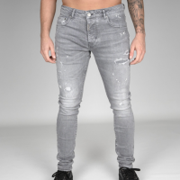 AB Lifestyle Stretch Splash Jeans Light Grey