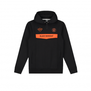 Black Bananas Anorak Neon Hoodie Black/Orange