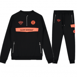 Black Bananas Anorak Neon Trainingspak Black/Orange
