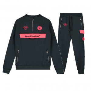 Black Bananas Anorak Neon Trainingspak Grey/Pink