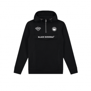 Black Bananas Anorak Pull-Up Hoodie Black