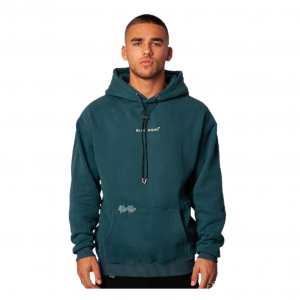 Black Bananas Signature Box Hoodie Blue