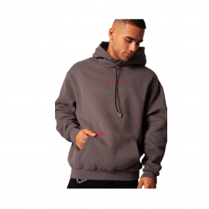 Black Bananas Signature Box Hoodie Grey