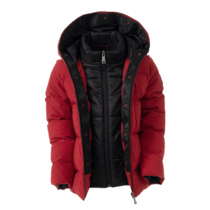 AB Lifestyle Hooded Down Jacket Kids Red
