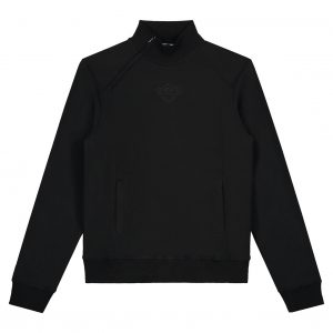Black Bananas Zipped Collar Sweater Black