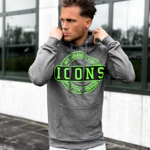 My Brand ICONS Stamp Hoodie Neon Green