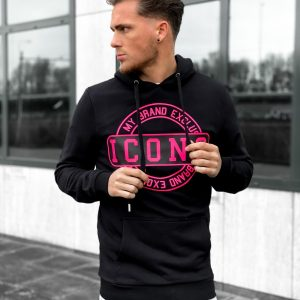 My Brand ICONS Stamp Hoodie Neon Pink